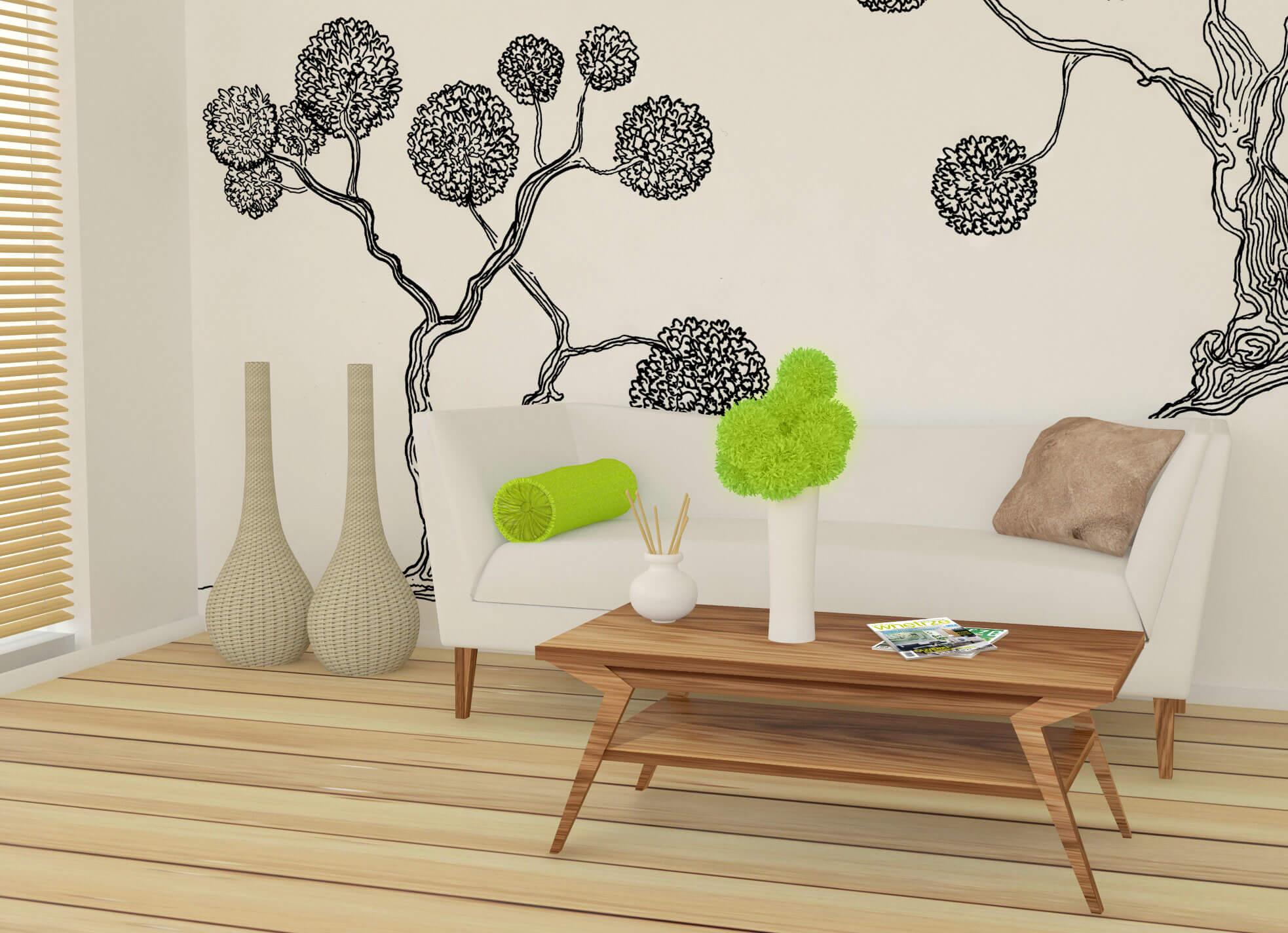projekt salonu_grafika na ścianie
